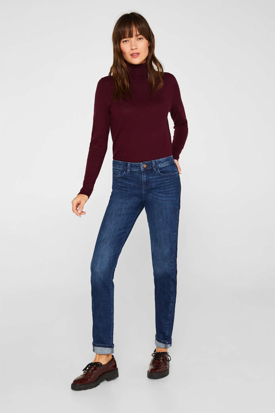 Esprit - Stretch jeans with decorative cords