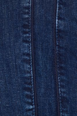 Stretch jeans with decorative cords, BLUE MEDIUM WASH, detail