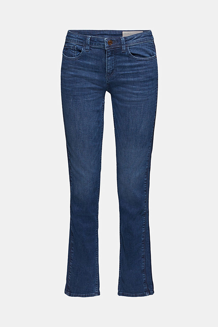 Stretch jeans with decorative cords
