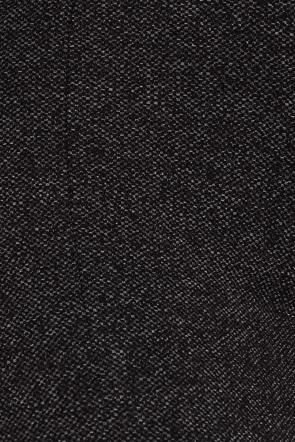 Salt-and-pepper pattern treggings, GUNMETAL, detail image number 4