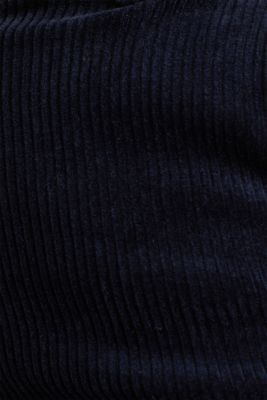 Stretch corduroy trousers with a wide leg, NAVY, detail