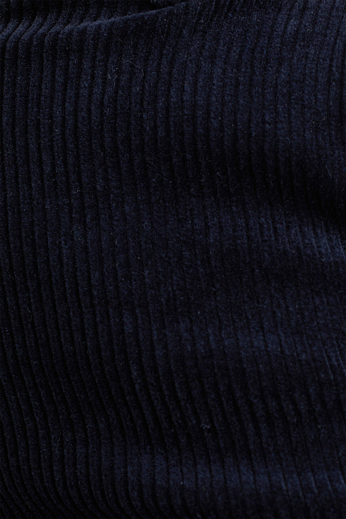 Stretch corduroy trousers with a wide leg, NAVY, detail image number 4