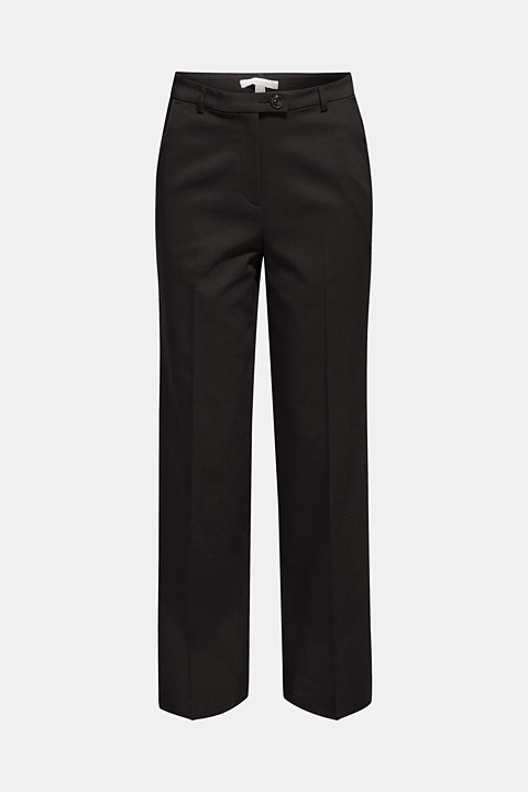 Stretch trousers with a straight leg