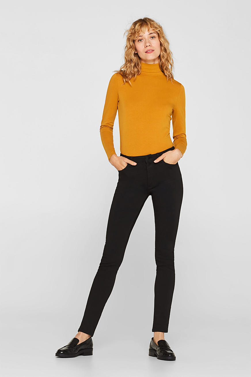Super stretch jeans with a high waistband