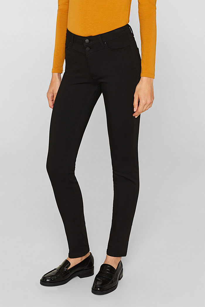 Super stretch jeans with a high waistband, BLACK RINSE, detail image number 6