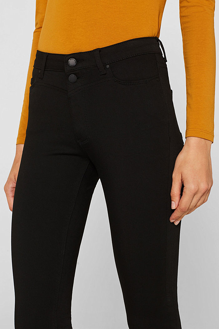 Super stretch jeans with a high waistband, BLACK RINSE, detail image number 2