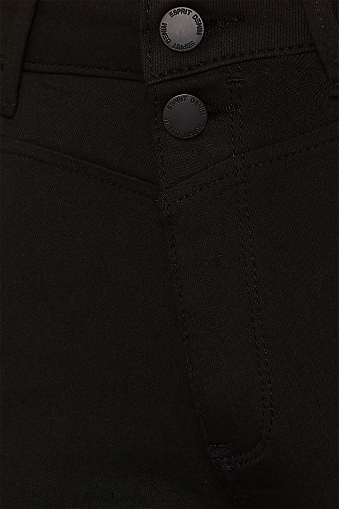 Super stretch jeans with a high waistband, BLACK RINSE, detail image number 4
