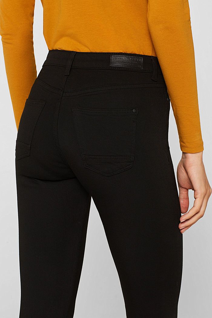 Super stretch jeans with a high waistband, BLACK RINSE, detail image number 5