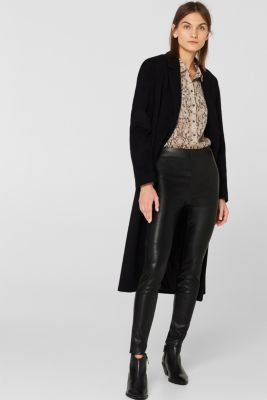 Faux leather treggings, BLACK, detail
