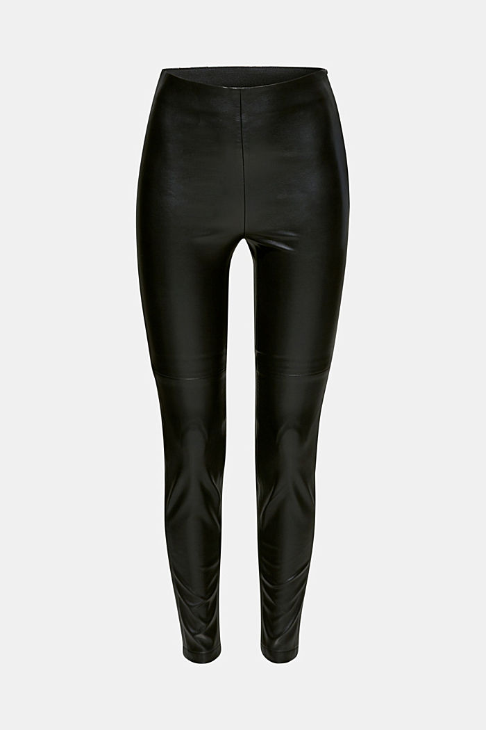 Faux leather treggings, BLACK, detail image number 7