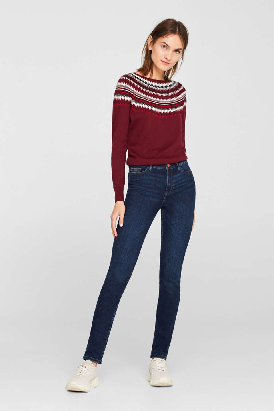 Esprit - Soft stretch jeans with a thermal inner surface