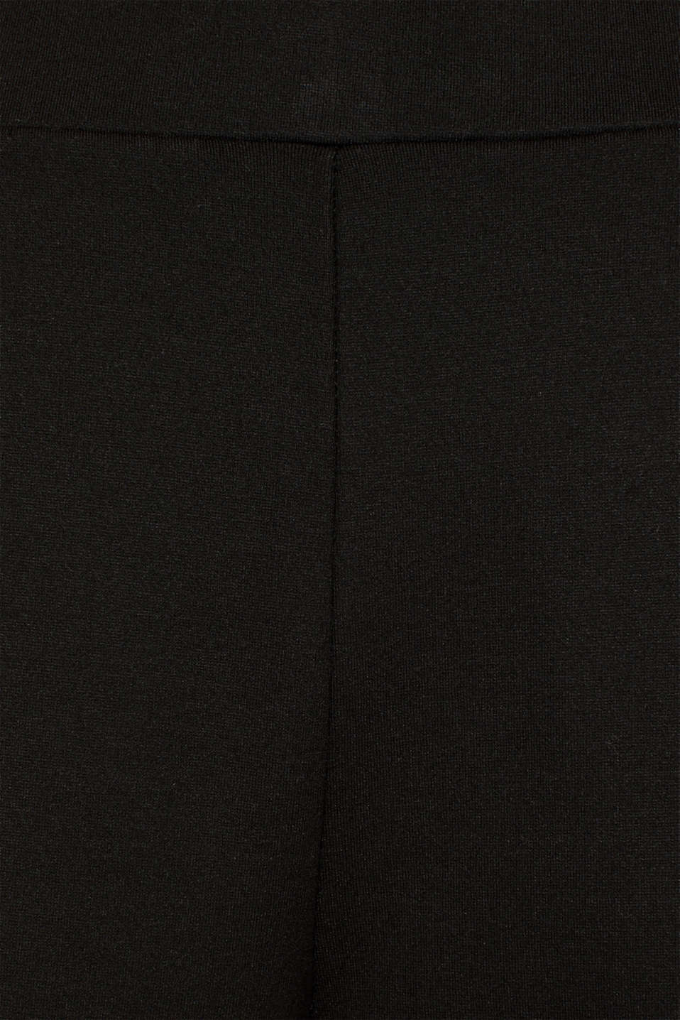 Trousers in compact stretch jersey, BLACK, detail image number 4