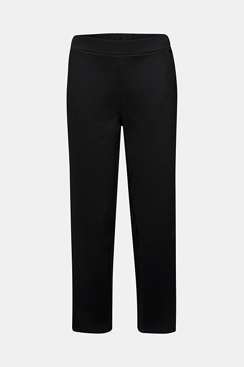 Trousers in compact stretch jersey