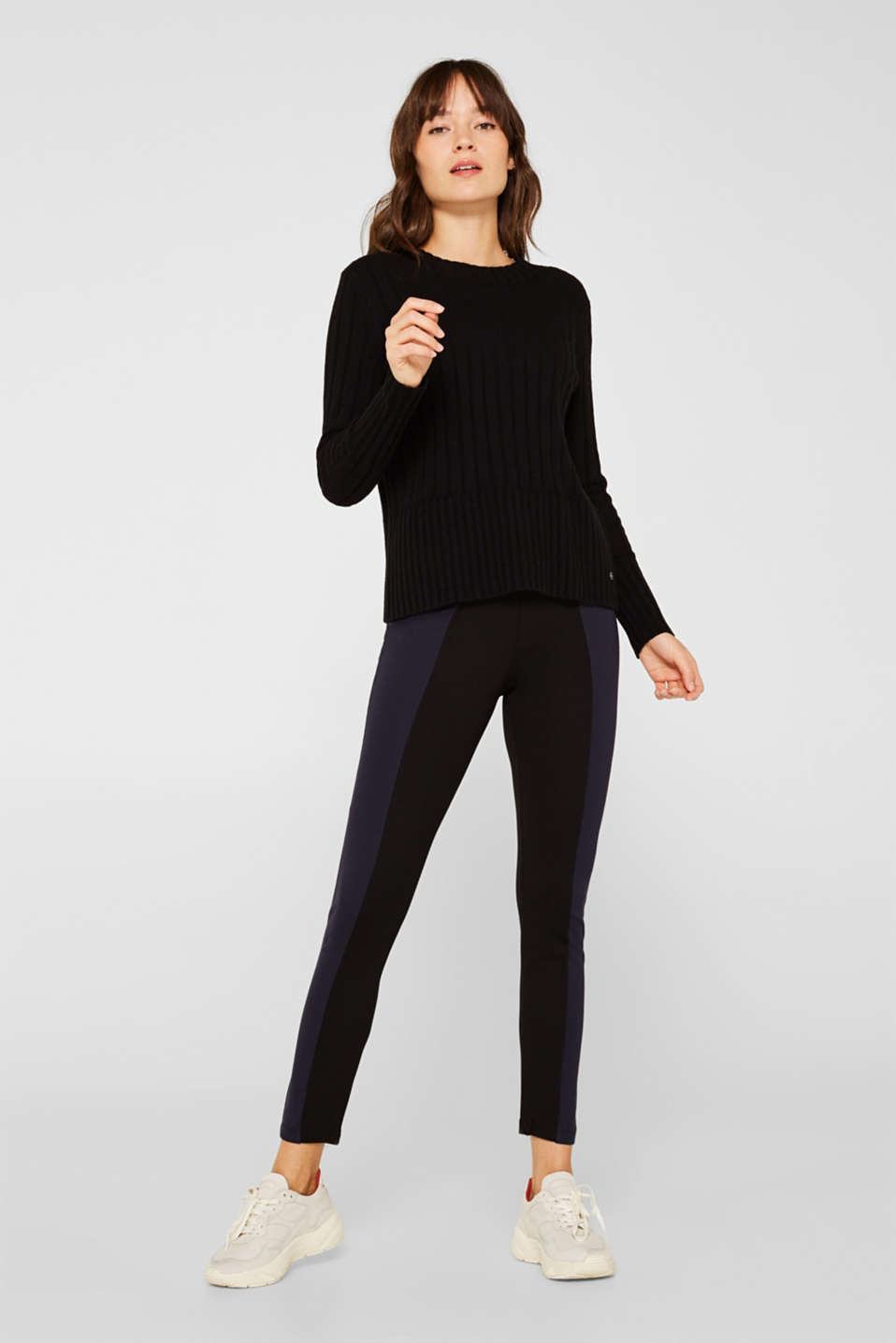 Esprit - Figuurvormende legging in een two-tone look