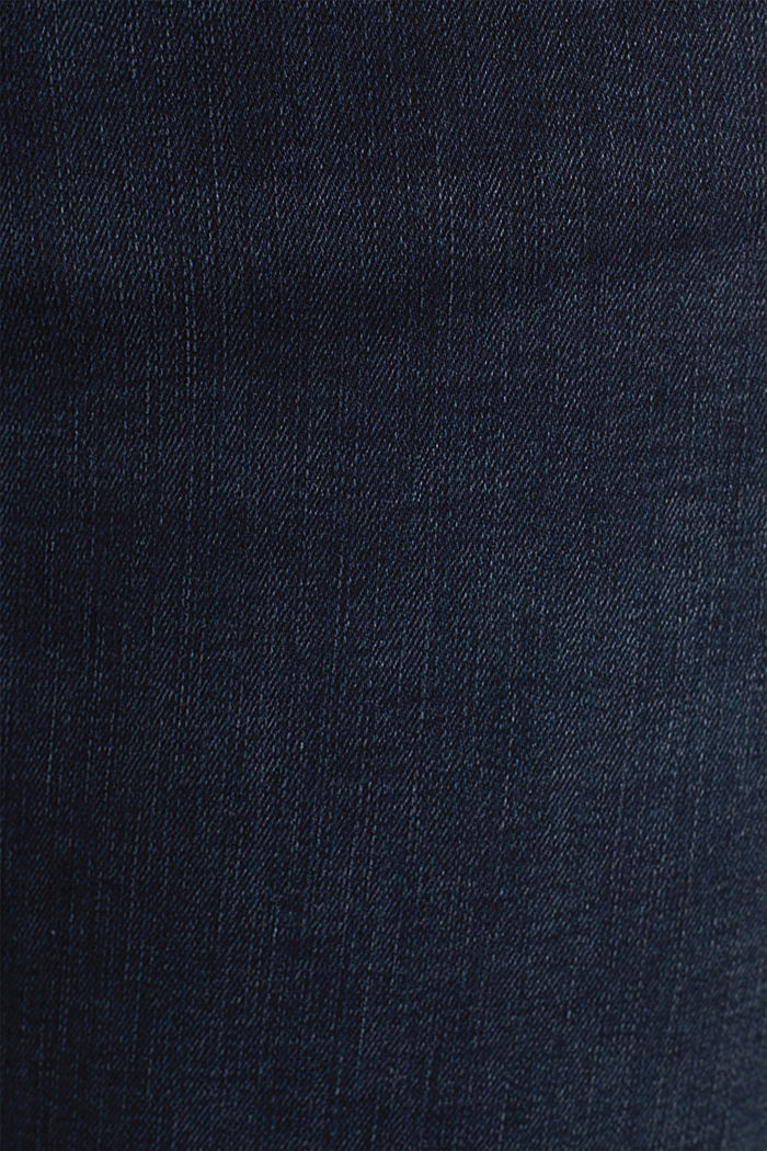 CURVY jeans with piped pockets, BLUE DARK WASHED, detail image number 4