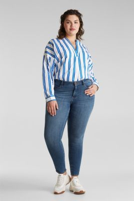 CURVY shaping jeans, BLUE MEDIUM WASH, detail