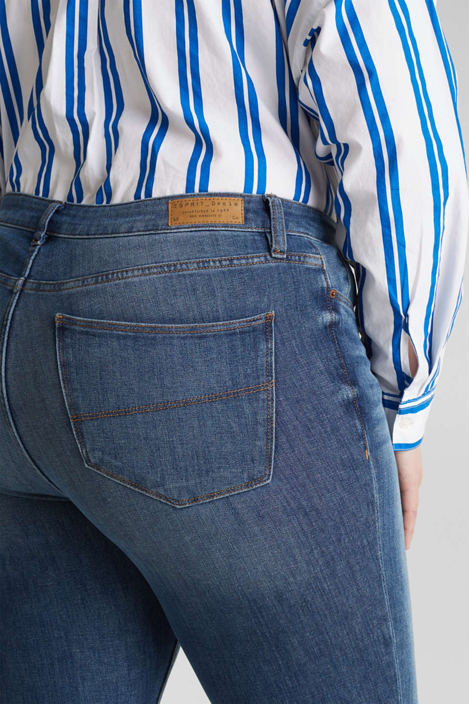 CURVY shaping jeans, BLUE MEDIUM WASH, detail image number 5
