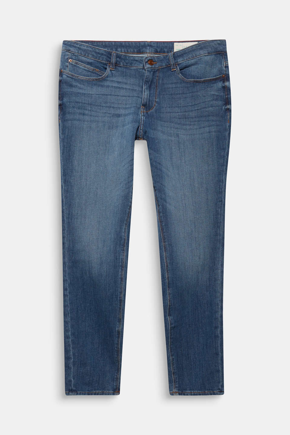 CURVY shaping jeans, BLUE MEDIUM WASH, detail image number 7