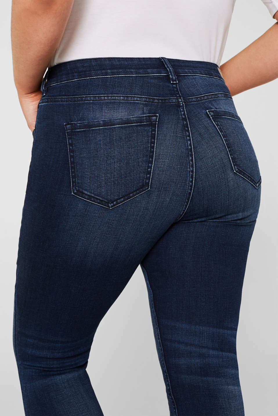 CURVY super stretch jeans, BLUE DARK WASH, detail image number 3