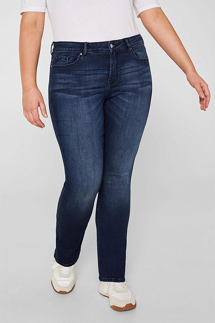 CURVY super stretch jeans, BLUE DARK WASHED, detail image number 5