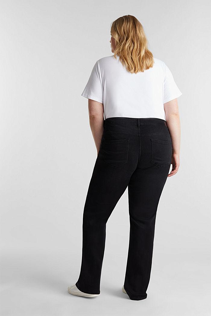 CURVY stretch jeans, BLACK DARK WASHED, detail image number 3