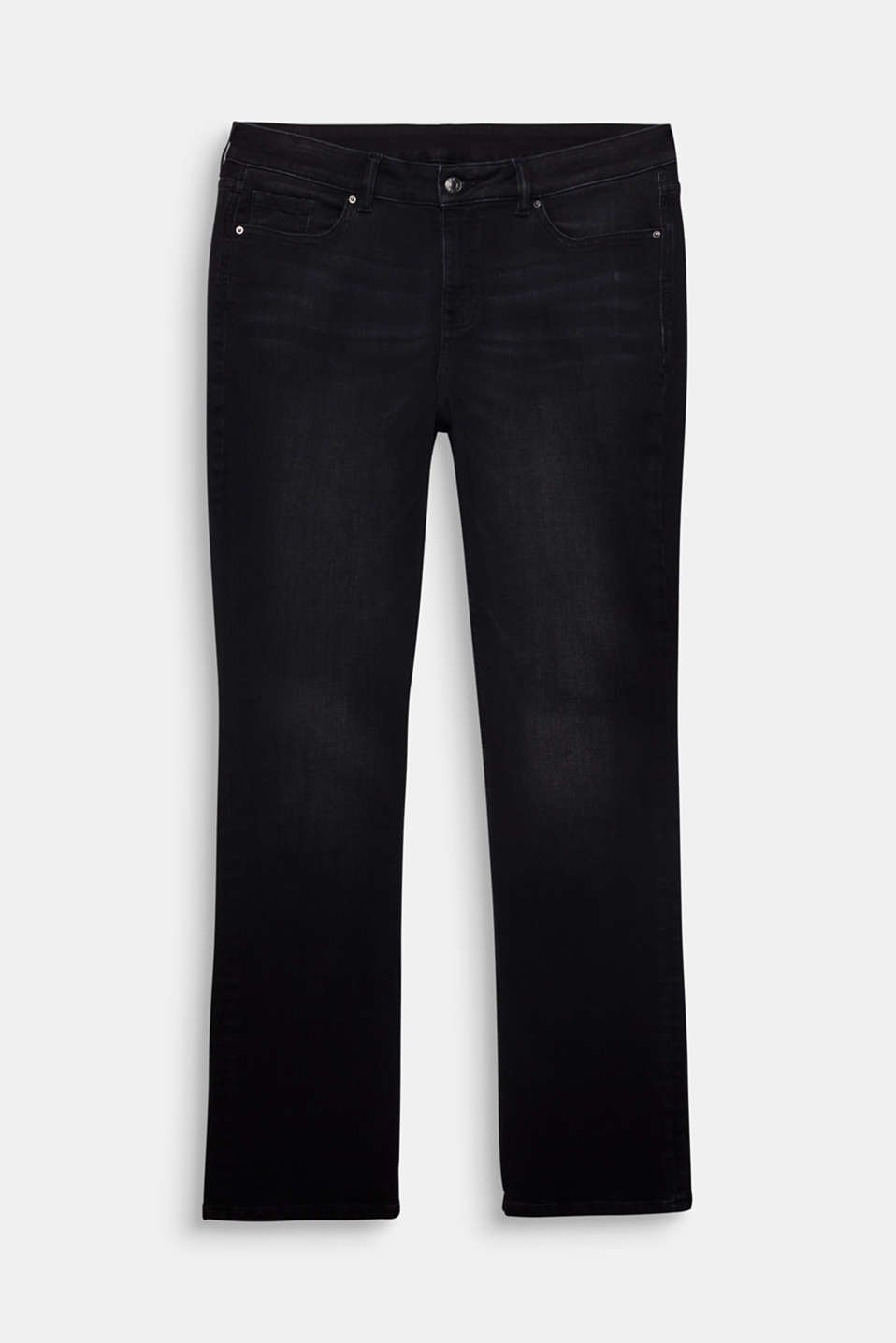CURVY stretch jeans in a dark wash, BLACK DARK WASH, detail image number 6