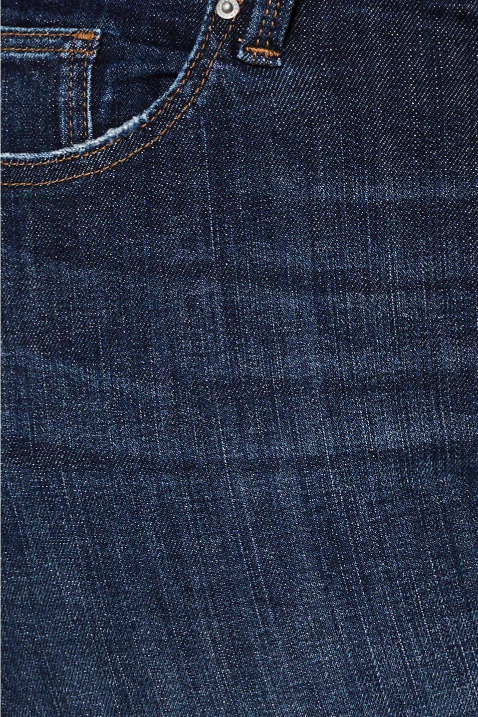 CURVY basic stretch jeans, BLUE DARK WASH, detail image number 4