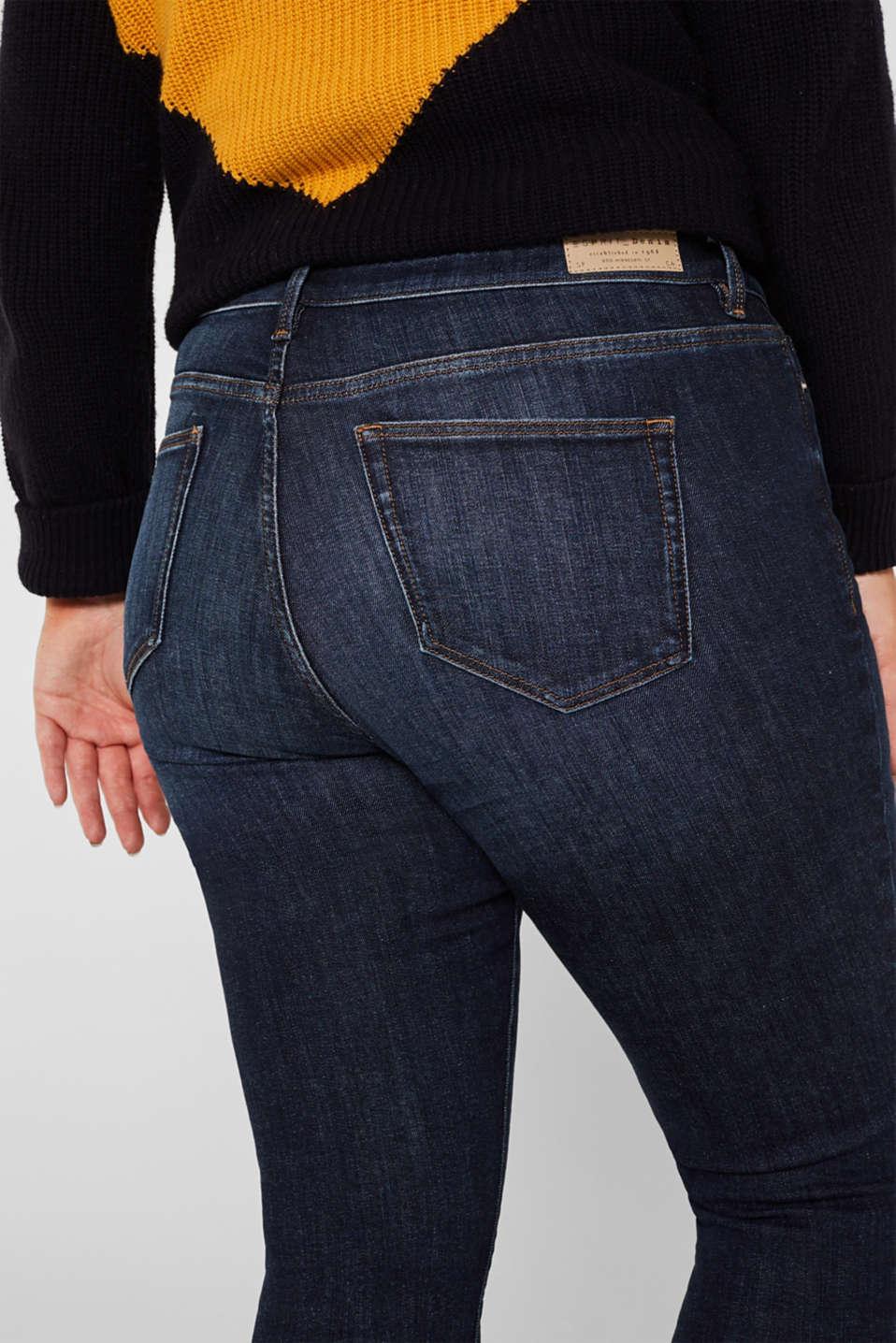 CURVY basic stretch jeans, BLUE DARK WASH, detail image number 5