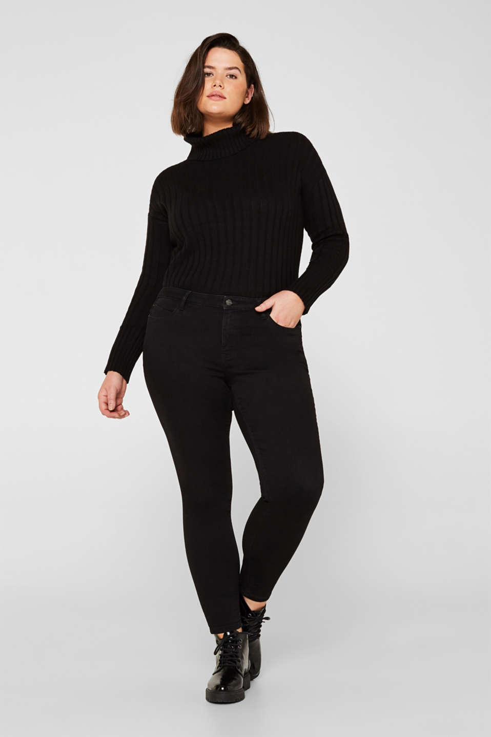Esprit - CURVY smalle stretchjeans