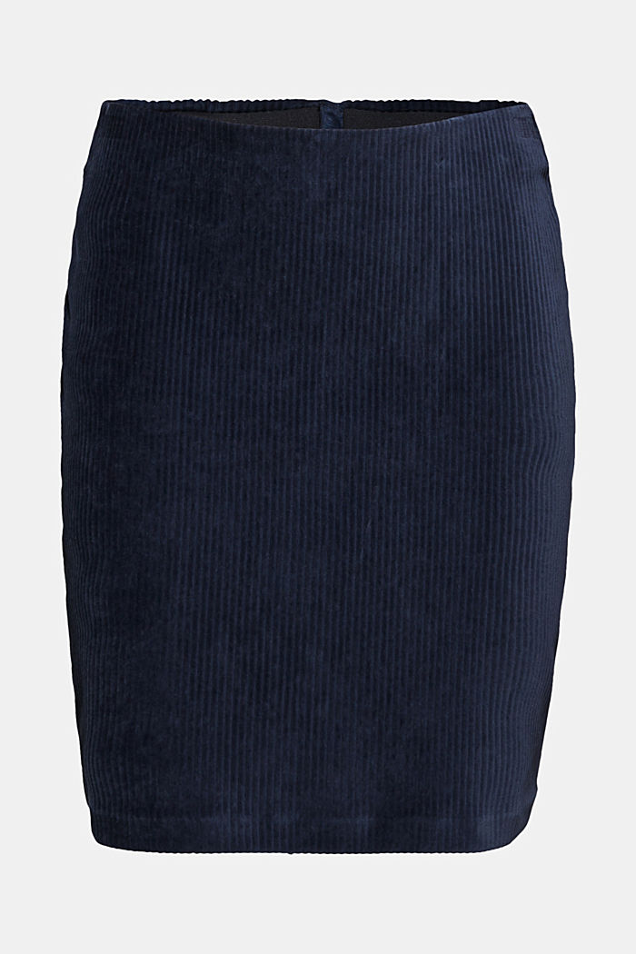 Stretch jersey skirt in a corduroy look, NAVY, detail image number 6