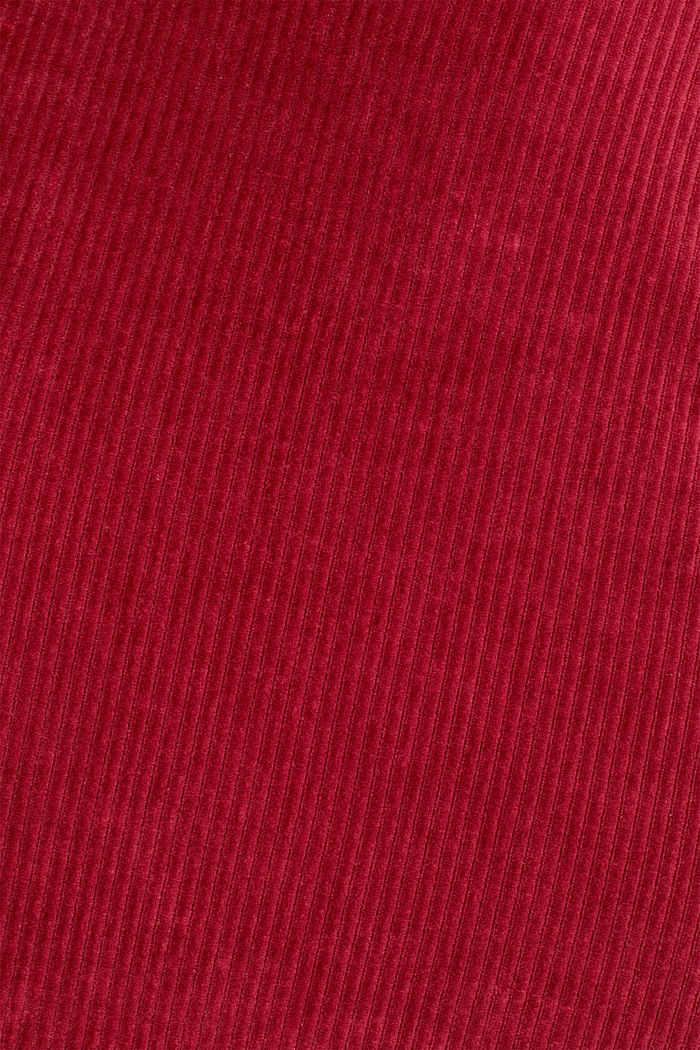 Stretch jersey skirt in a corduroy look, GARNET RED, detail image number 4