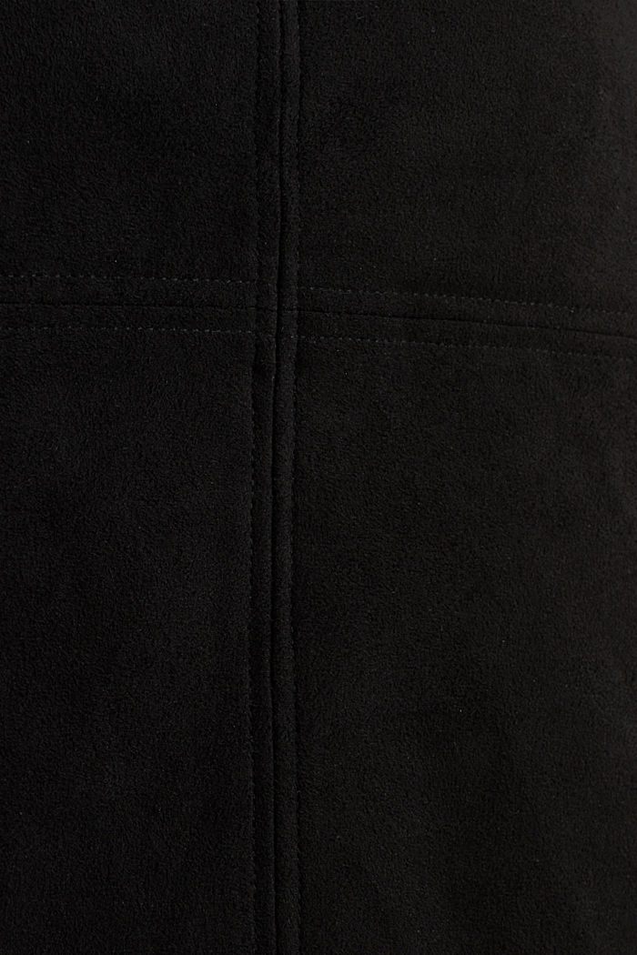 Skirt in faux suede, BLACK, detail image number 4