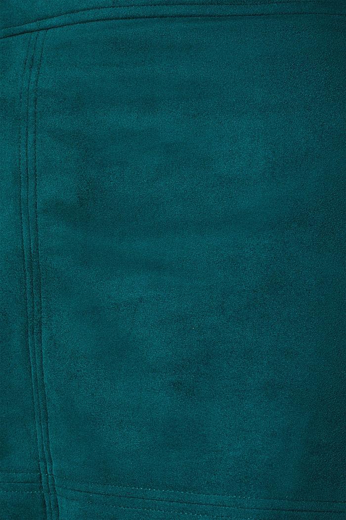 Skirt in faux suede, DARK TEAL GREEN, detail image number 4