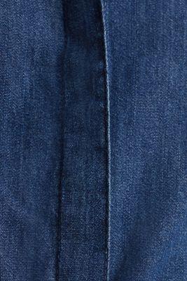 Denim dress with a tie-around belt, 100% cotton, BLUE MEDIUM WASH, detail