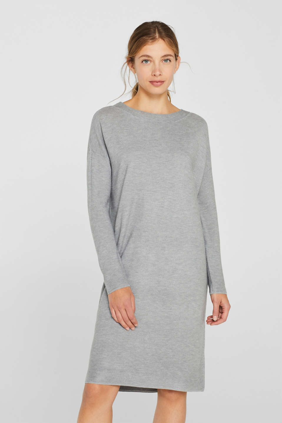 Esprit - Knit dress with a ribbed texture