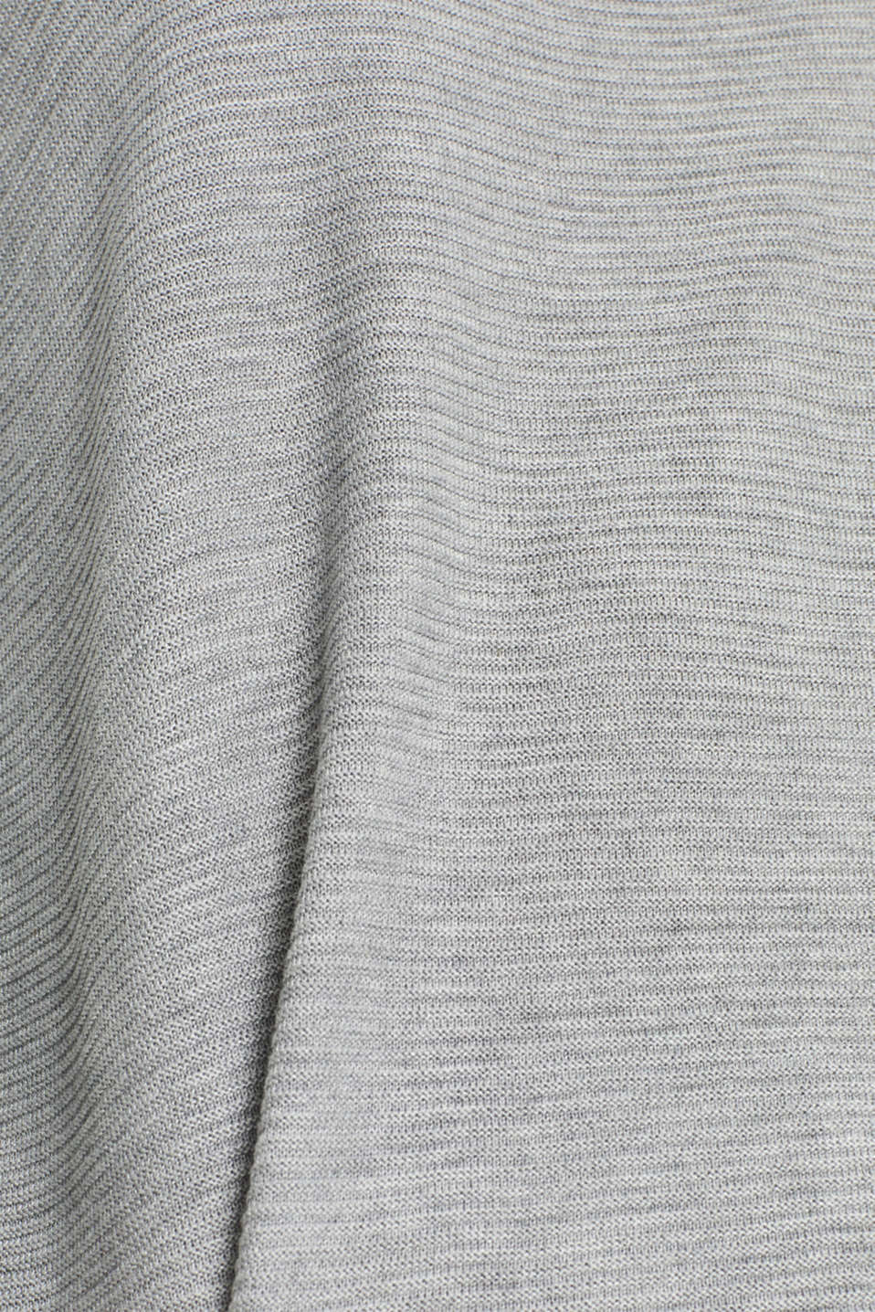 Knit dress with a ribbed texture, MEDIUM GREY 5, detail image number 4