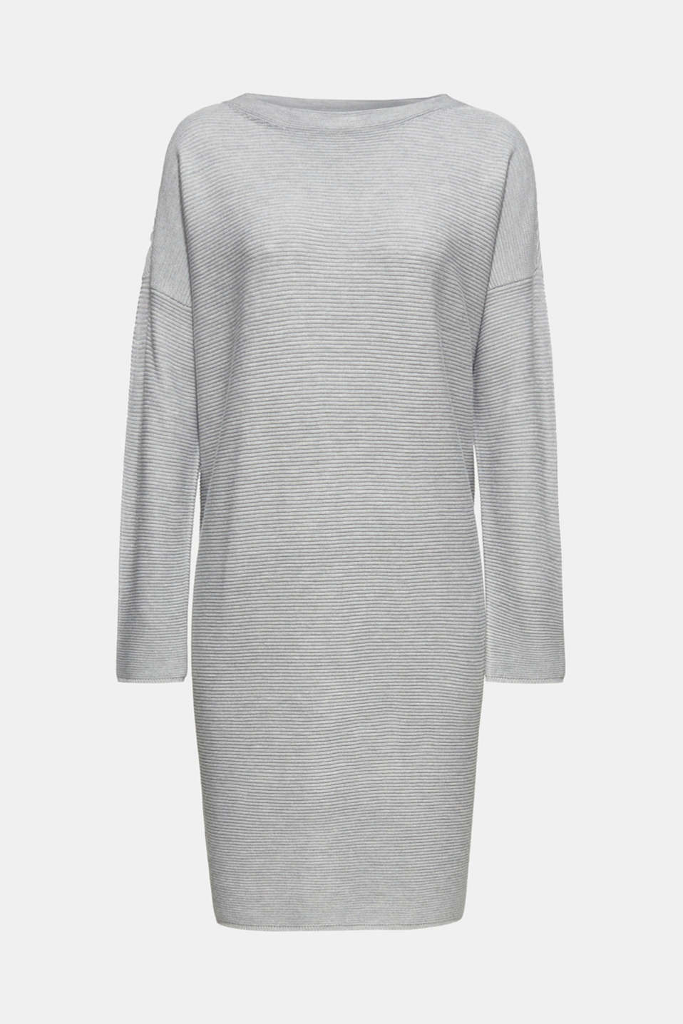 Knit dress with a ribbed texture, MEDIUM GREY 5, detail image number 6