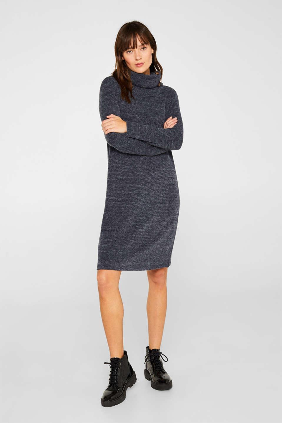 Textured jersey dress, NAVY, detail image number 0