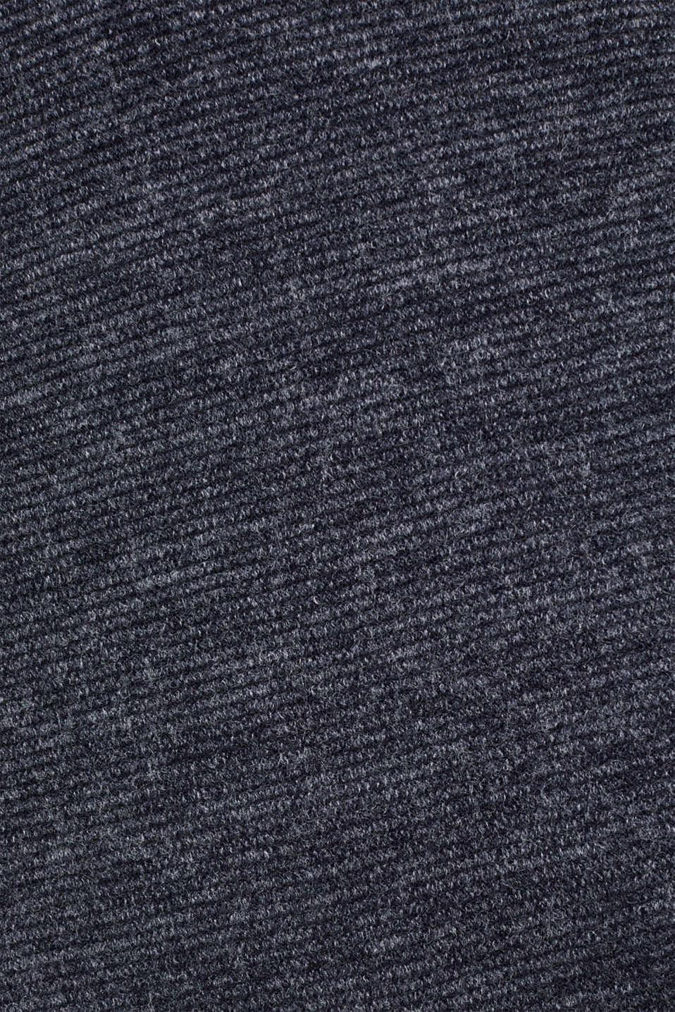 Textured jersey dress, NAVY, detail image number 4