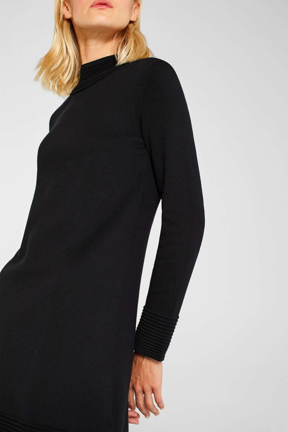 Dresses flat knitted, BLACK, detail image number 3