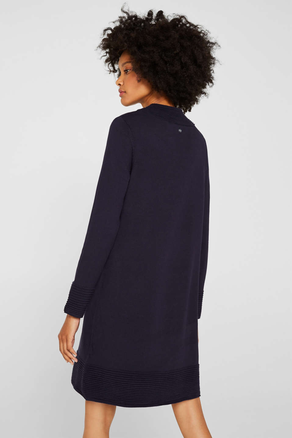 Knit dress with pintucks, NAVY, detail image number 2