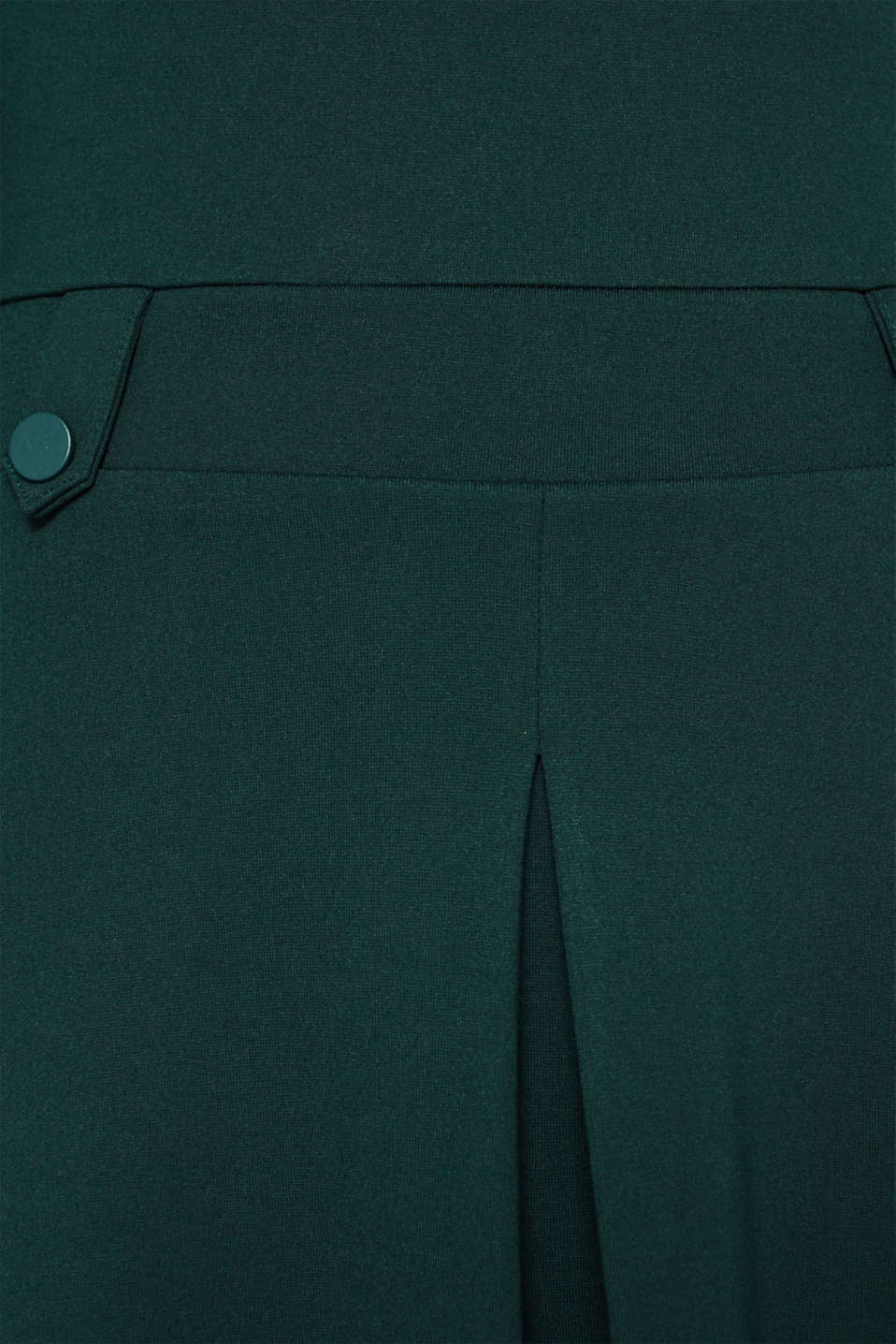 Flared dress made of stretch jersey, DARK TEAL GREEN, detail image number 4