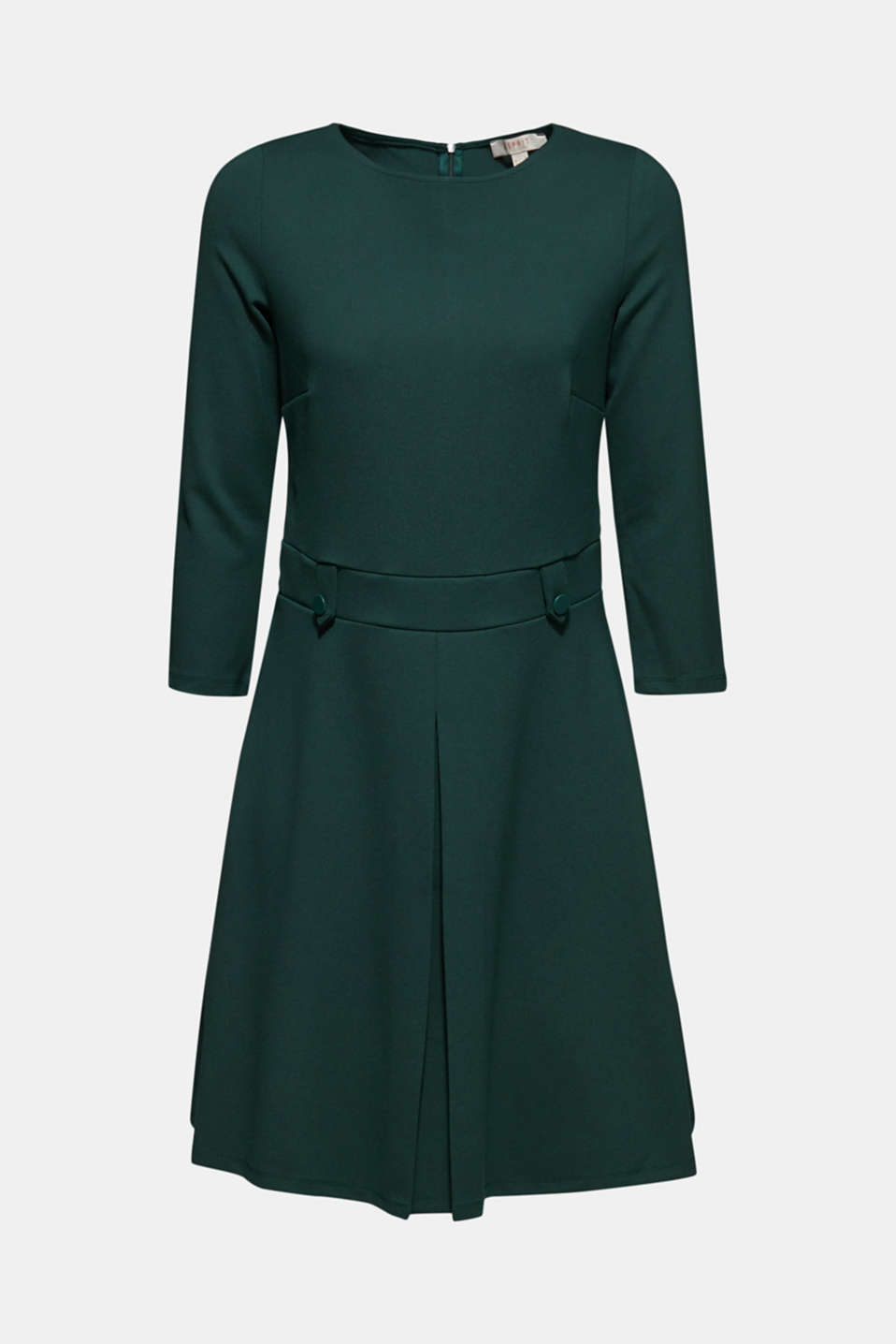Flared dress made of stretch jersey, DARK TEAL GREEN, detail image number 6