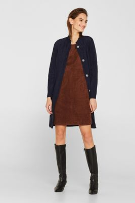 Stretch faux leather dress, DARK BROWN, detail