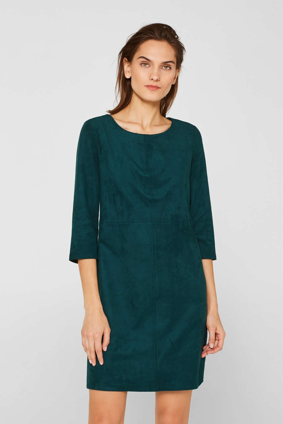 Esprit - Stretch-Kleid in Leder-Optik