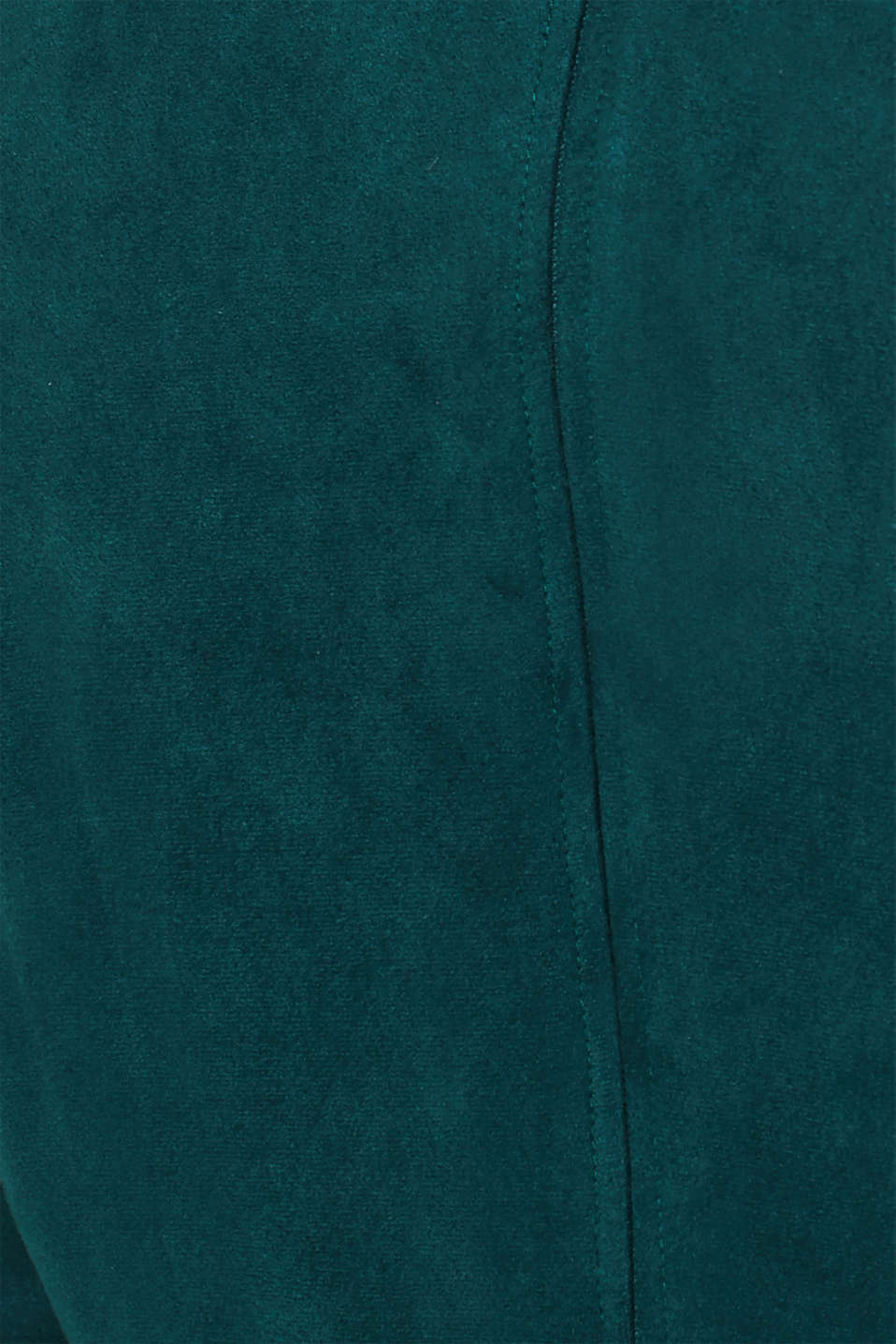 Stretch faux leather dress, DARK TEAL GREEN, detail image number 4