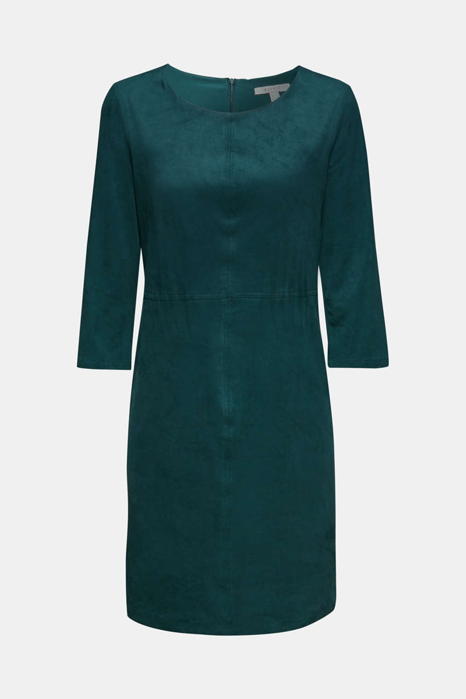 Stretch faux leather dress, DARK TEAL GREEN, detail image number 5