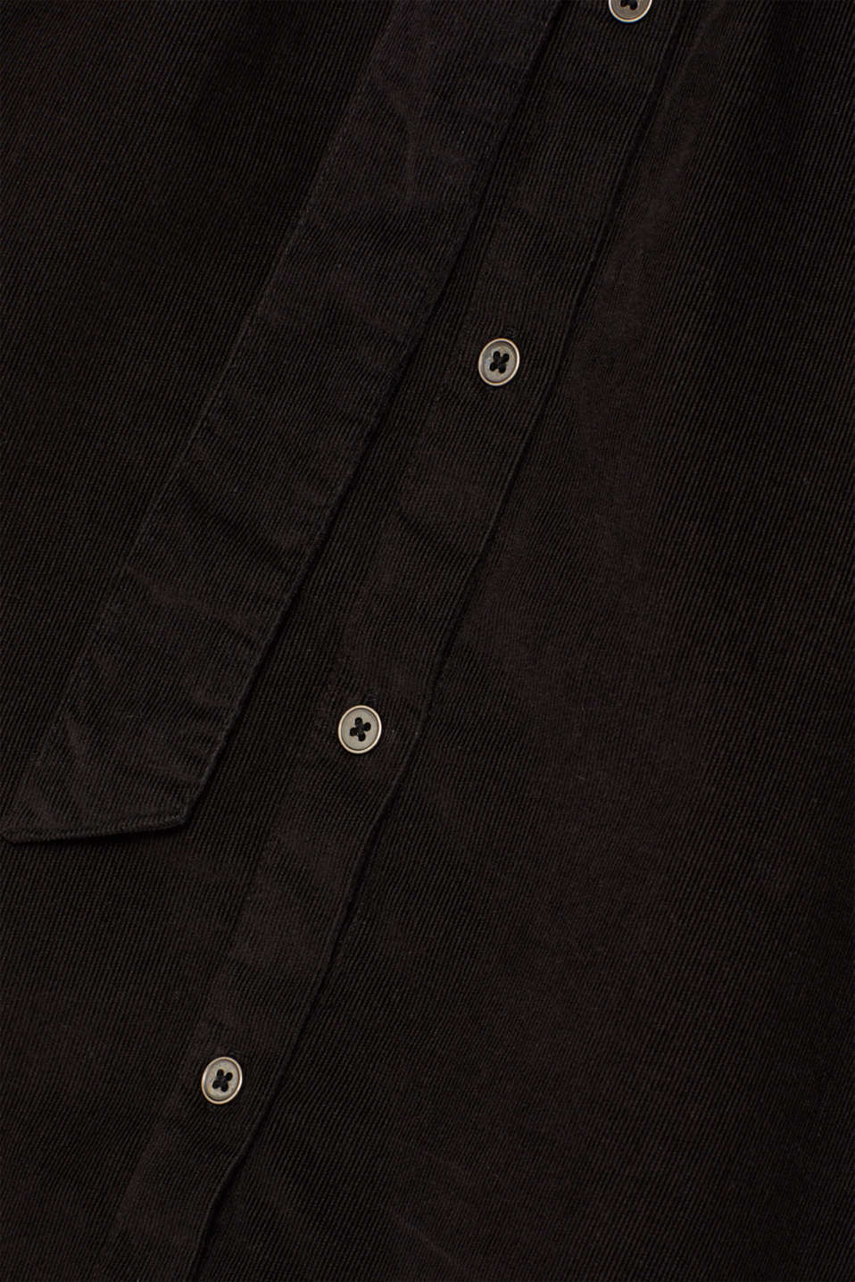 Dress in needlecord, 100% cotton, BLACK, detail image number 4