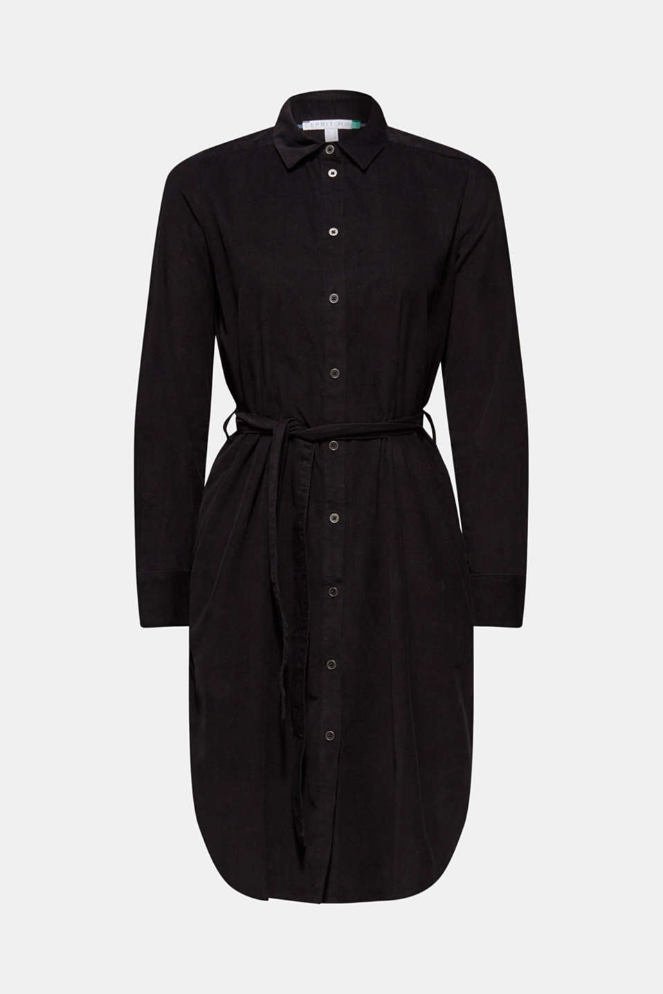 Dress in needlecord, 100% cotton, BLACK, detail image number 8