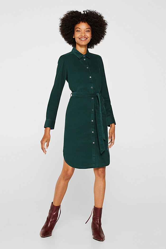 Dress in needlecord, 100% cotton